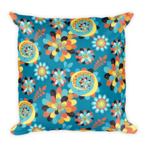 Bohemian Flowers Basic Pillow