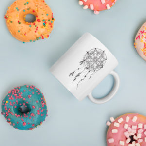 Love More Worry Less Dreamcatcher Coffee Or Tea Mug