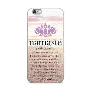 Namaste Lotus Flower Beach IPhone Case