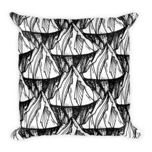 Vintage Black And White Mountains Basic Pillow